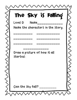 Reading A-Z Level D The Sky is Falling