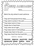 Reading A-Z Level E City Animals