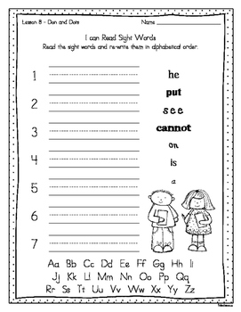 Reading A-Z Phonics Decodable Books Resource Pack 1