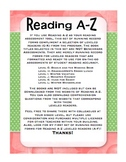 Reading A-Z Running Record Forms - Leveled Readers G-L
