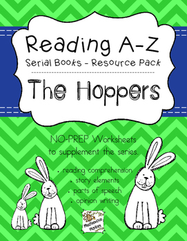 Reading A-Z Serial Books Resource Pack - The Hoppers