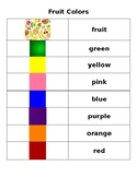 Reading A-Z - Wordless Book - Fruit Colors - Work on Writing