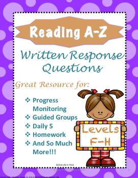 Reading A-Z Written Response F-H