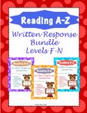 Reading A-Z Written Response F-N Bundle