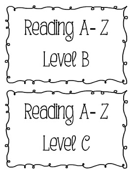 Reading A-Z labels
