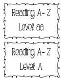 Reading A-Z labels