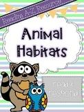 Reading A-Z Companion: Animal Habitats Read and Respond