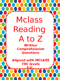 Reading A to Z mClass questions levels F and G