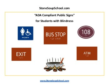 ADA Compliant Public Signs for Students with Blindness