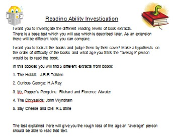 Reading Ability Investigation: Mean