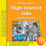 Reading About High-Interest Jobs: Reading Level 4