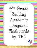 Reading Academic Vocabulary Cards 4th grade TEKS (Rainbow