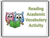 Reading Academic Vocabulary Review Activity