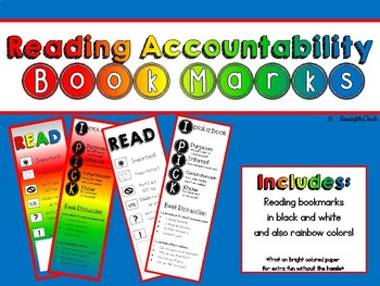 Reading Accountability Bookmarks