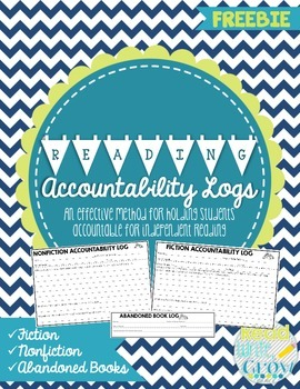 Reading Accountability Logs for Fiction & Nonfiction Books {FREEBIE}