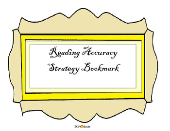 Reading Accuracy Bookmarks