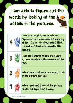Reading Accuracy/ Decoding Strategies- Learning Goals and Scales {Daily CAFE}