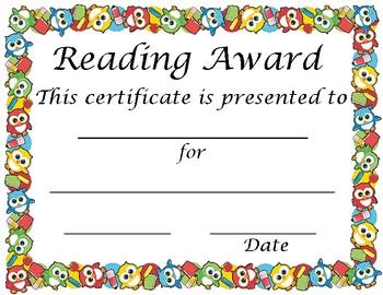 Reading Achievement Award