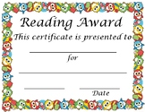 Reading Achievement Award