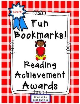 Reading Award Bookmarks