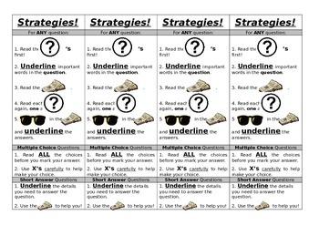 Reading Achievement Test Strategies Bookmark