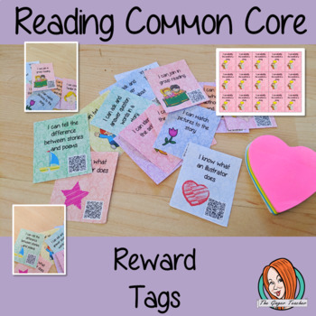 Reading Achievements Common Core Reward Tags