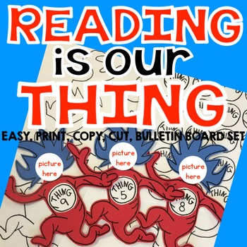 Reading Week-Reading is Our Thing Bulletin Board Set