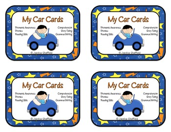 Reading Activities Car Cards