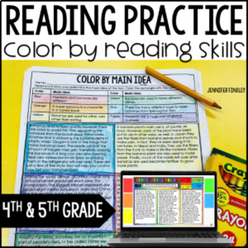 Reading Activities | Color by Reading Skill Printables by Jennifer ...