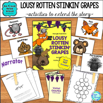 Read Aloud Interactive Fable Activities: Lousy Rotten Stinkin' Grapes