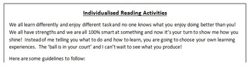 Reading Activities Multiple Intelligences