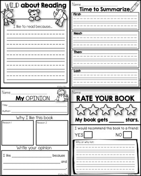Common Core Reading Graphic Organizers and Reading Helper Book