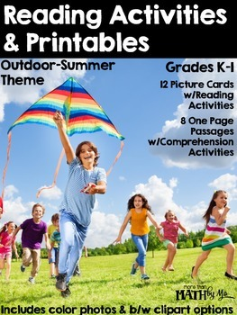 Reading Activities & Printables - Outdoor/Summer Theme {Real Life Pictures}