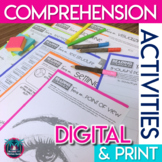 Reading Comprehension Worksheets for Any Text Digital & Print