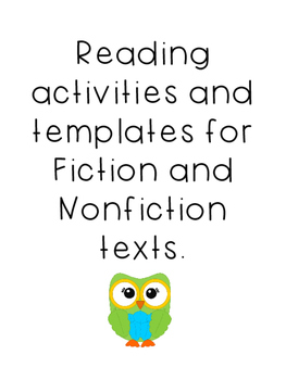 Reading Activities for Fiction and Nonfiction texts