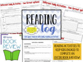 Reading Activities for Home or School Middle Grades Bundle