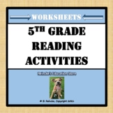 Reading Activities with Context Clues, Theme, Synonyms, etc.