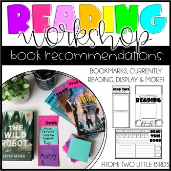 Reading Activity: Book Review, Book Recommendation Bookmarks, Currently Reading