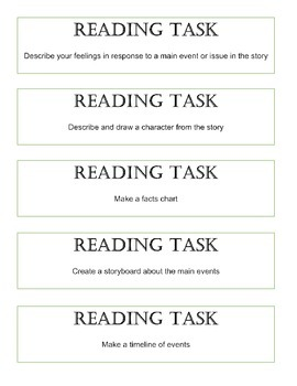 Reading Activity Cards