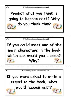 Reading Activity Cards - Fiction