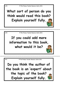Reading Activity Cards - Non Fiction