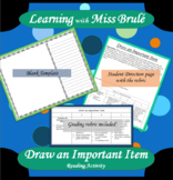 Reading Activity - Draw an Important Item