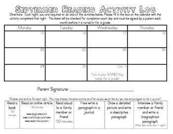 Reading Activity Log
