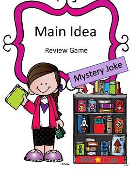 Reading Activity Main Idea Review Game: Mystery Joke