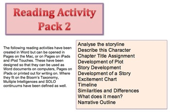 Reading Activity Pack 2