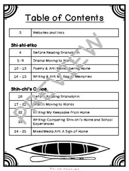 Reading Activity Pack: Shi-shi-etko & Shin-chi's Canoe