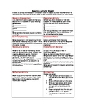 Reading Activity Sheet