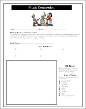 Reading Activity for Any Novel Unit Create a Band and Music CD