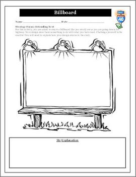 Create a Billboard Reading Activity for Any Novel Unit