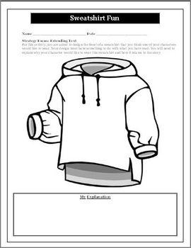 Reading Activity for Any Novel Unit Design a Sweatshirt Activity